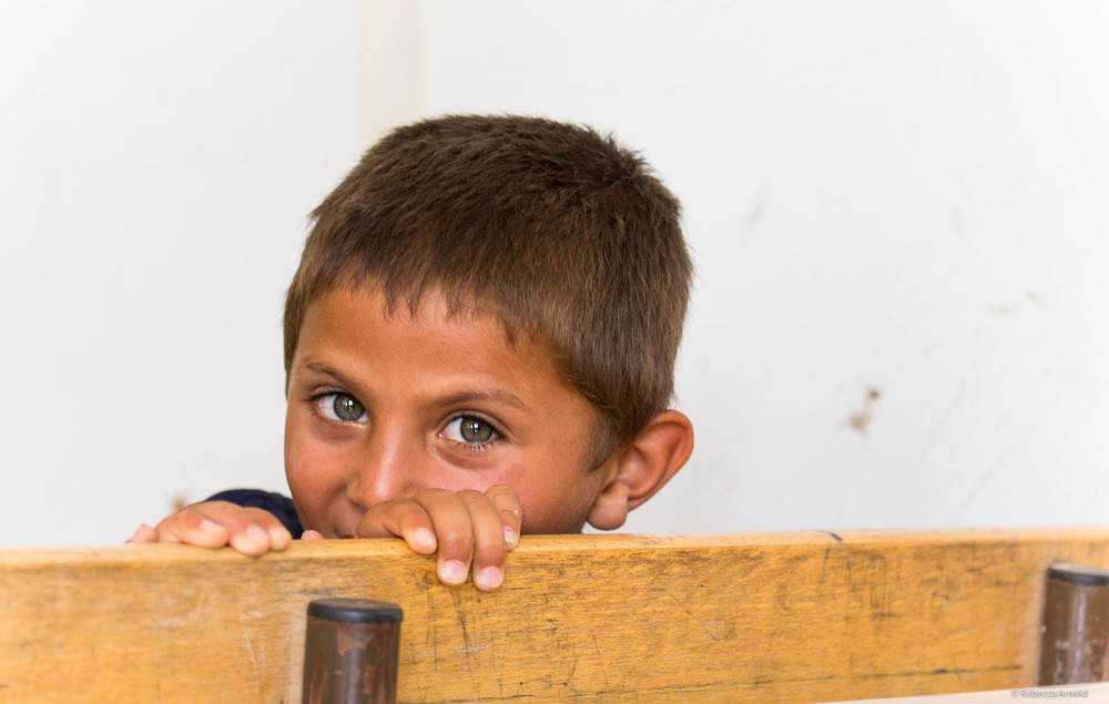 Schoolboy at UNICEF's school,  Zaatari Refugee Camp, Jordan