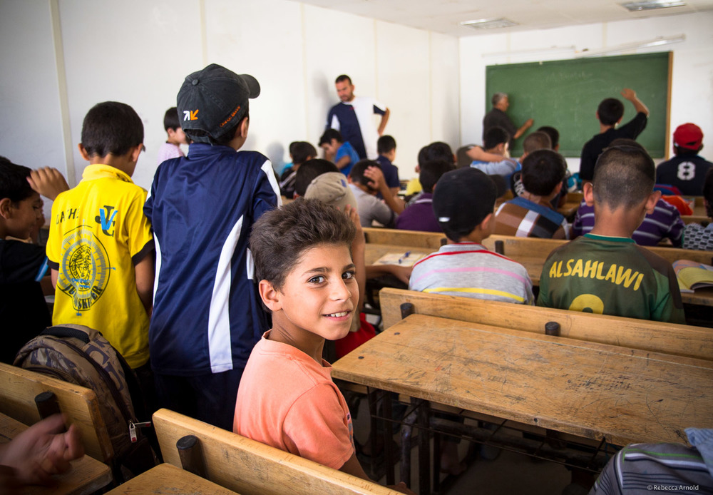 UNICEF boys school,  Zaatari Refugee Camp, Jordan