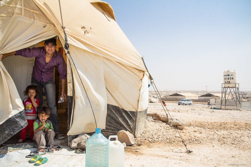 Family home/tent,  Zaatari Syrian Refugee Camp, Jordan