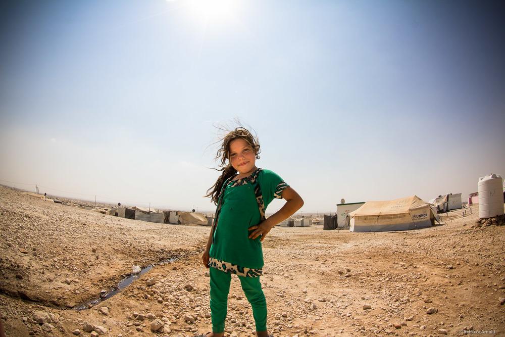 Syrian refugee, Zaatari Refugee Camp, Jordan