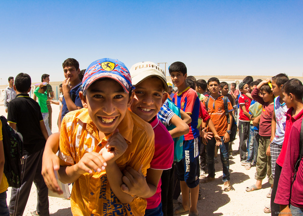 UNICEF boy's school,  Zaatari Refugee Camp, Jordan