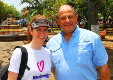 President of Costa Rica Luis Guillermo Solís with Rebecca,Good Deeds Day