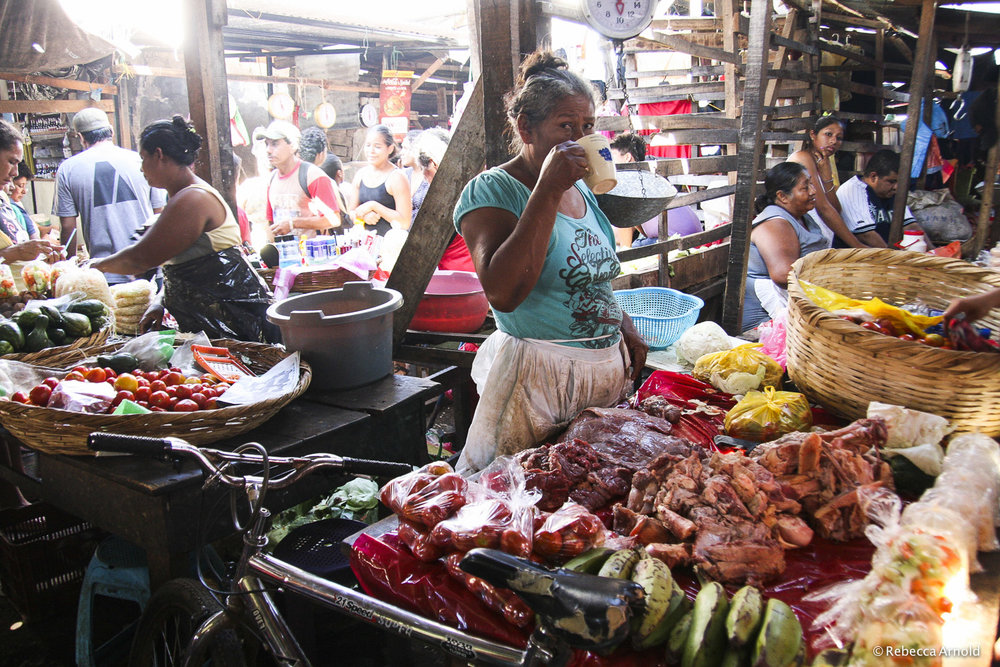 "Sunday Grand Market, Nicaragua 2009   16"" x 24"" 