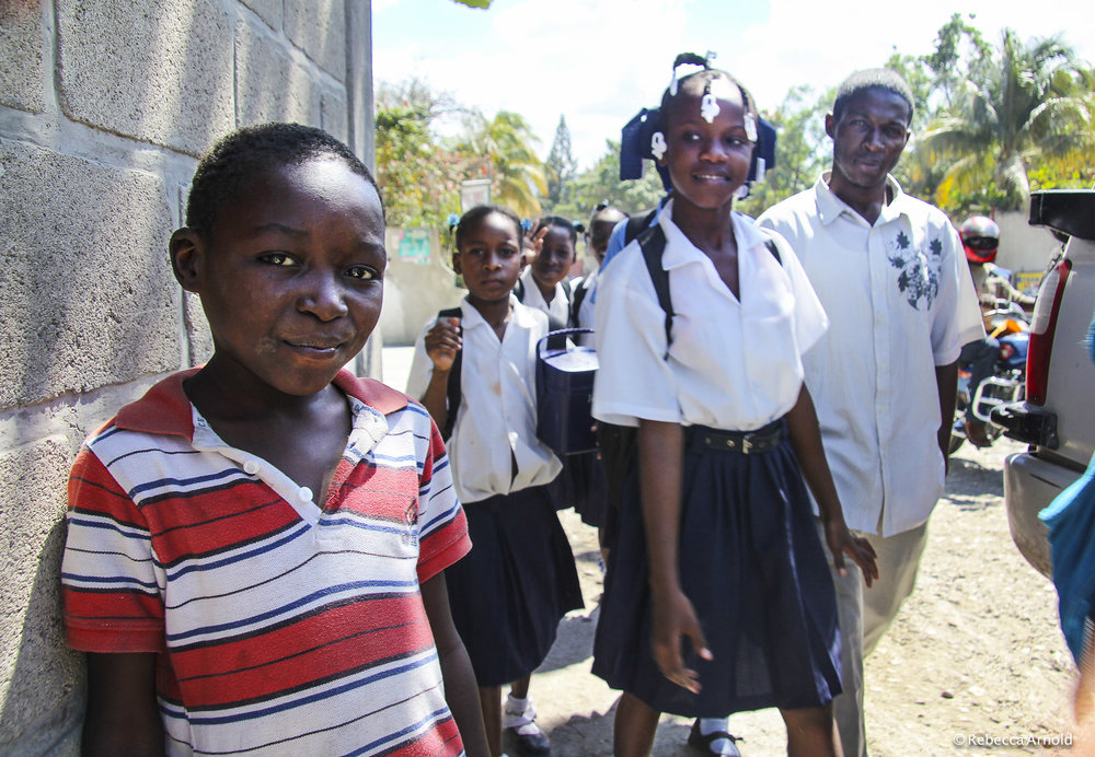 School Kids & Restavek Child Slave, Haiti