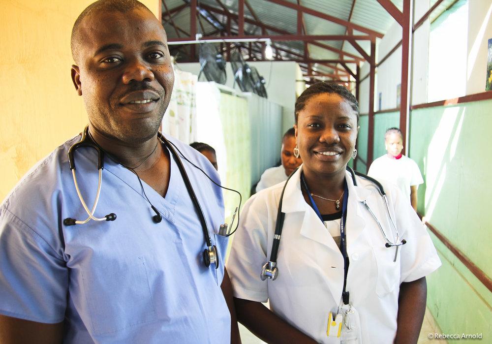 Haitian Doctors, St. Luke Hospital, Haiti