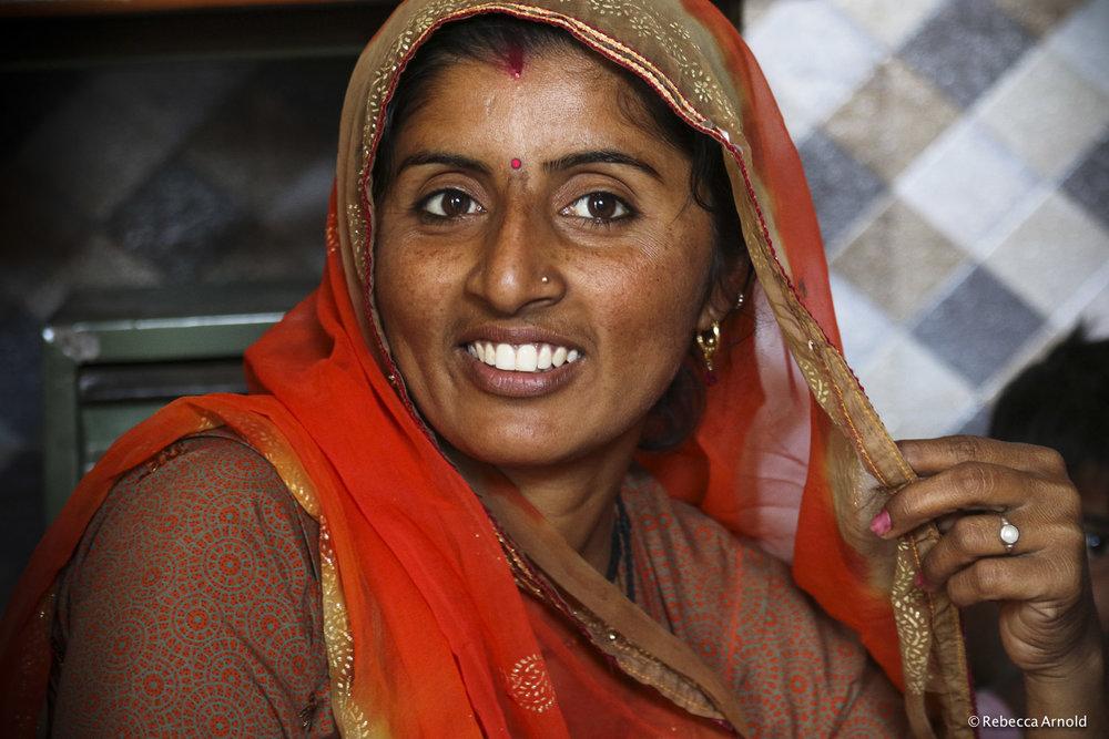 Orange Sari, India