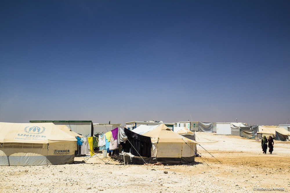 United Nations Zaatari Refugee Camp. Housing 80,000 Syrian Refugees, Jordan