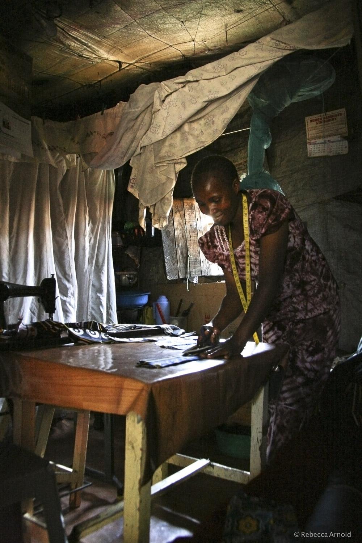 Kibera Seamstress, Kenya