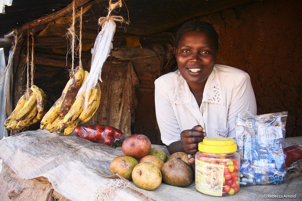 Her Food Stand,Micro Loans, Kibera, Kenya