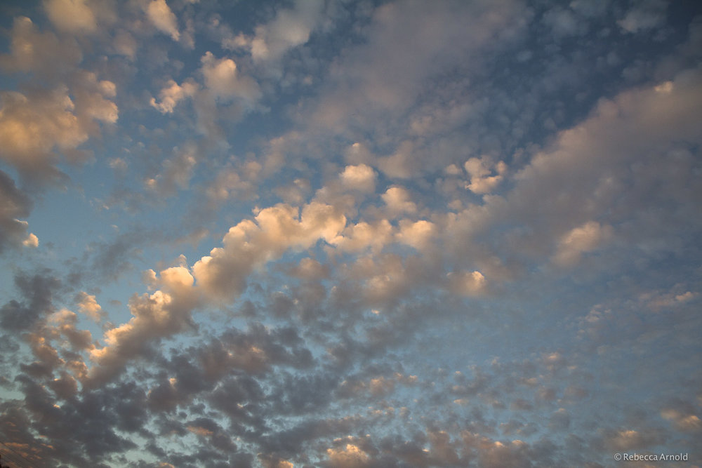 "Popcorn Sky, Mexico 2013  16"" x 24"" 