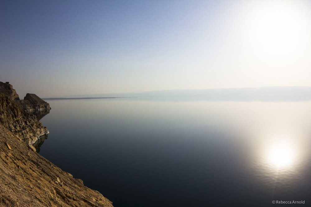"Dead Sea Calm, Jordan 2014  16"" x 24"" 