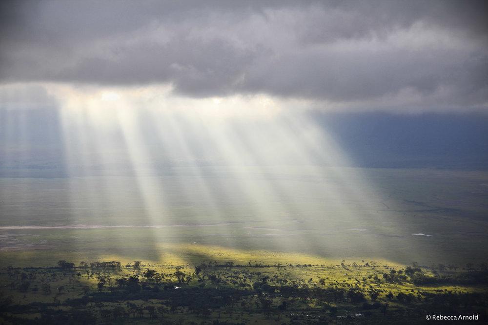 28. African Rays, Ngorongoro Crater, Tanzania 2011