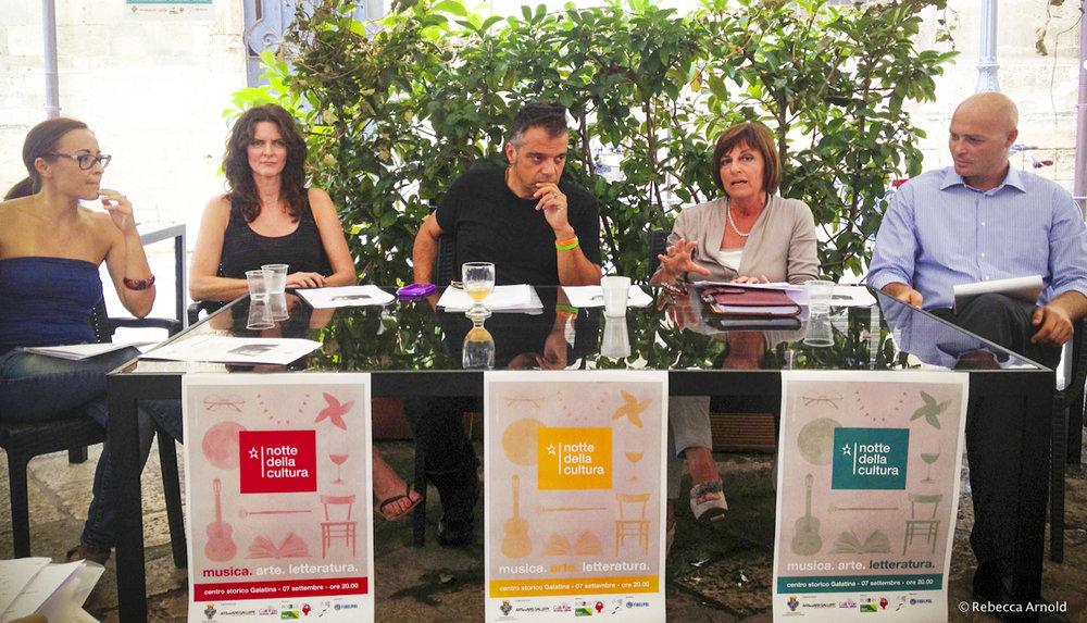Lecce, Italy: Press release for la Notte della Cultura (The Night of Culture) featuring Rebecca's Others Inside Me photo exhibit of her nonprofit work.