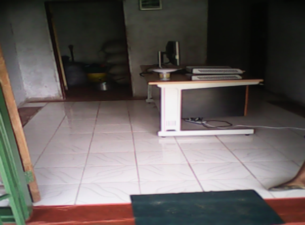 This is the reception of the Dr Elizabeth Rini Medical Health Centre