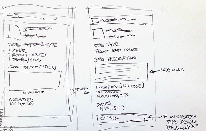 App Prototyping by Alexis Finch for   JobTosser