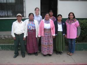 Linda Dix-Cooper(GHE '10) with Guatemalan study team members.