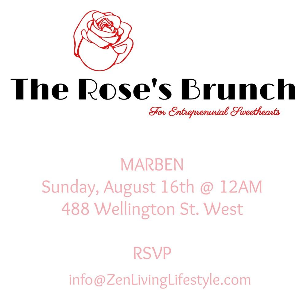 The Rose's Brunch Private Invitation