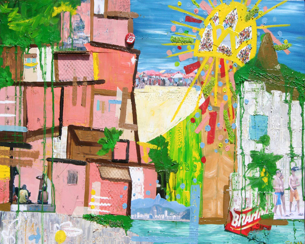 Brasilia, 2006, Oil and Mixed Media on canvas, 24 x 36 inches