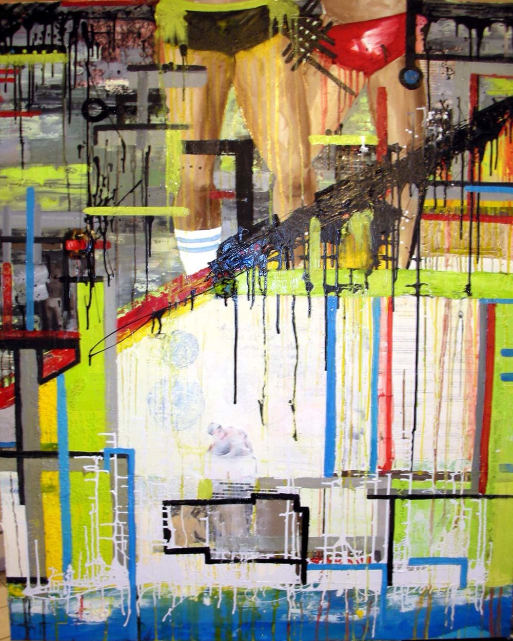Prurient, 2006, Oil and Mixed Media on canvas, 40 x 50 inches