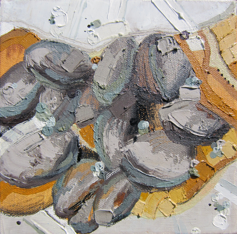 Quahog, 2013, Oil on canvas, 6 x 6 inches