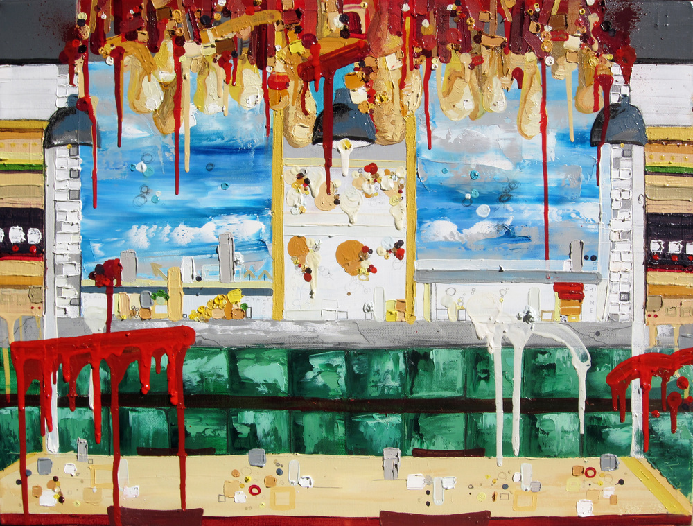 Theater of Game, 2012, Oil on canvas, 18 x 24 inches
