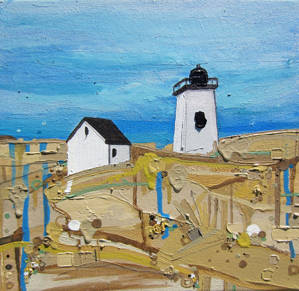 Long Point Light, 2013, Oil on canvas, 12 x 12 inches