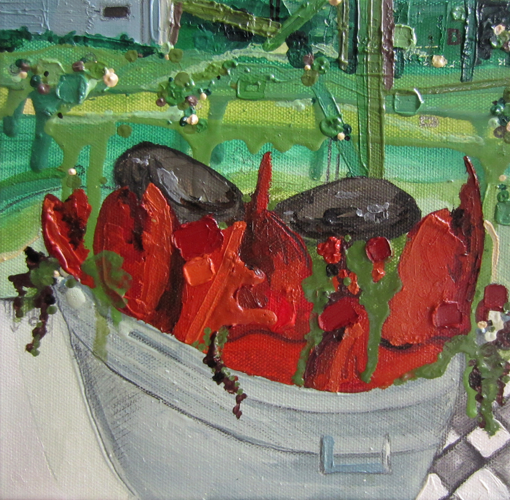 Summer Bake, 2014, Oil on canvas, 8 x 8 inches