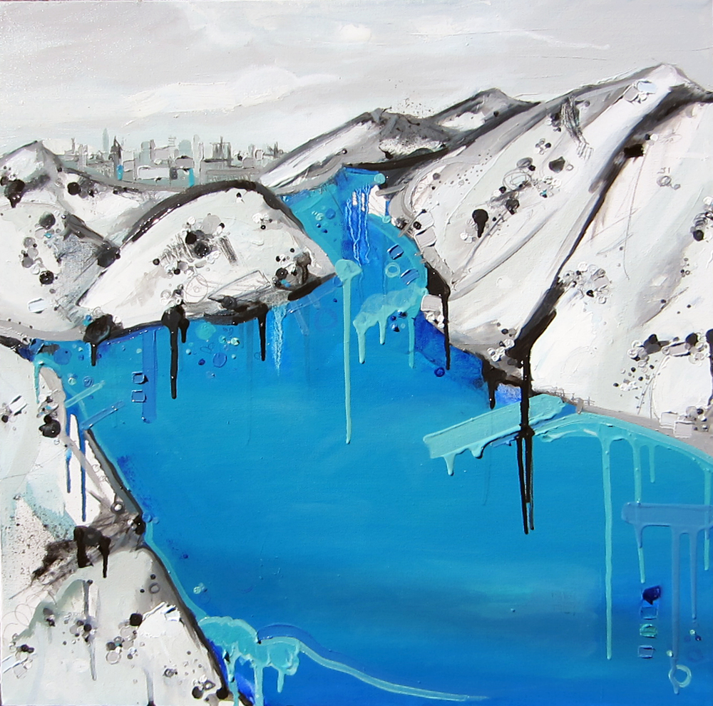 Grindavik, 2013, Oil on canvas, 24 x 24""