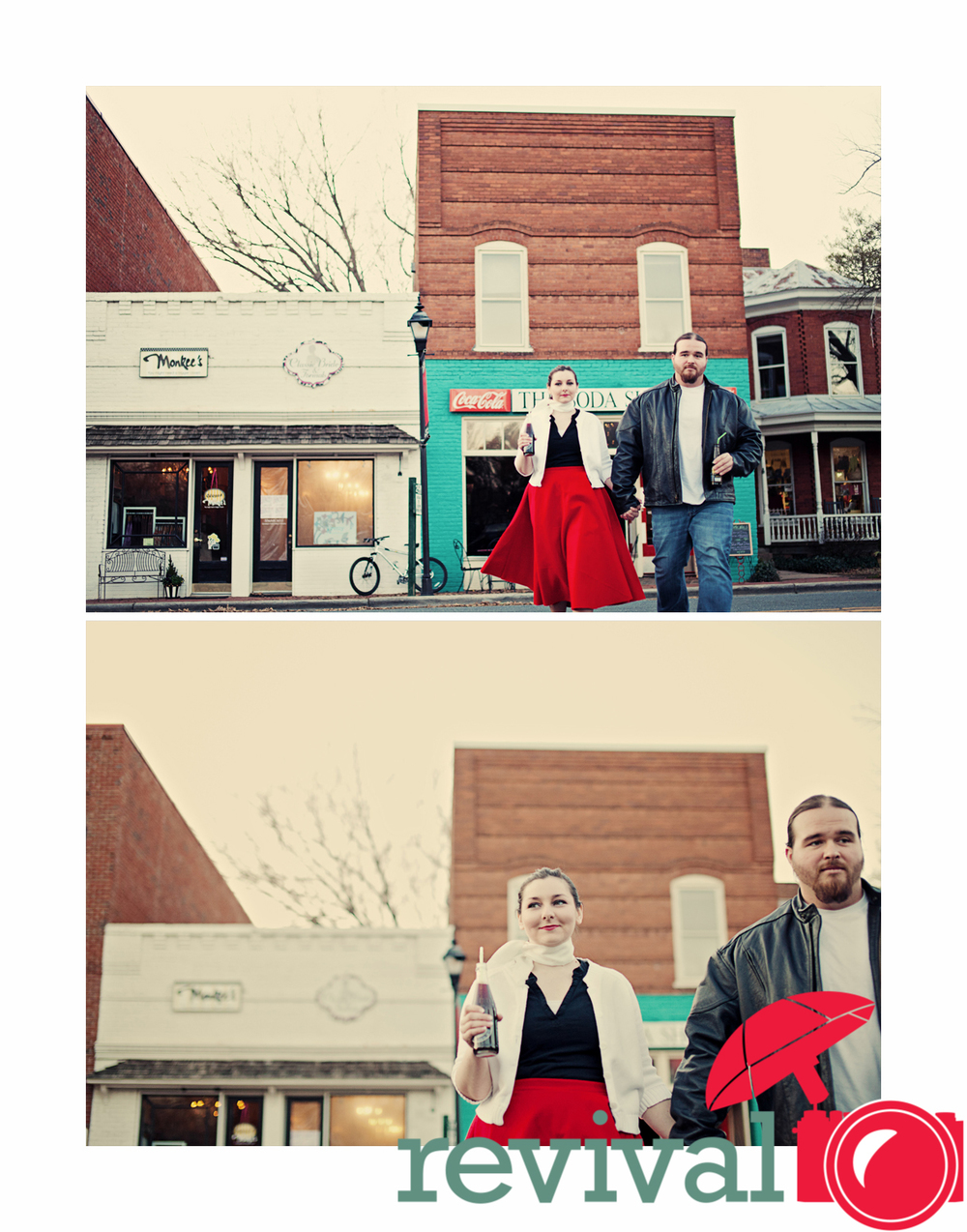 50's Themed Engagement Session