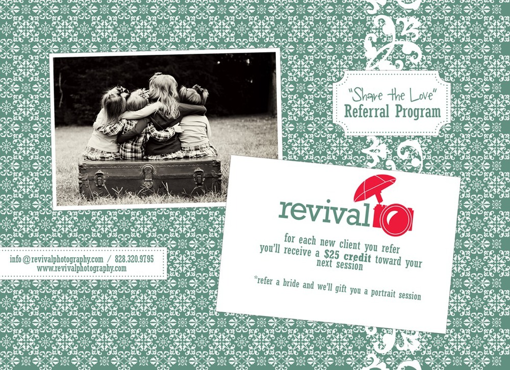 """Share the Love"" Revival Photography Referral Program"