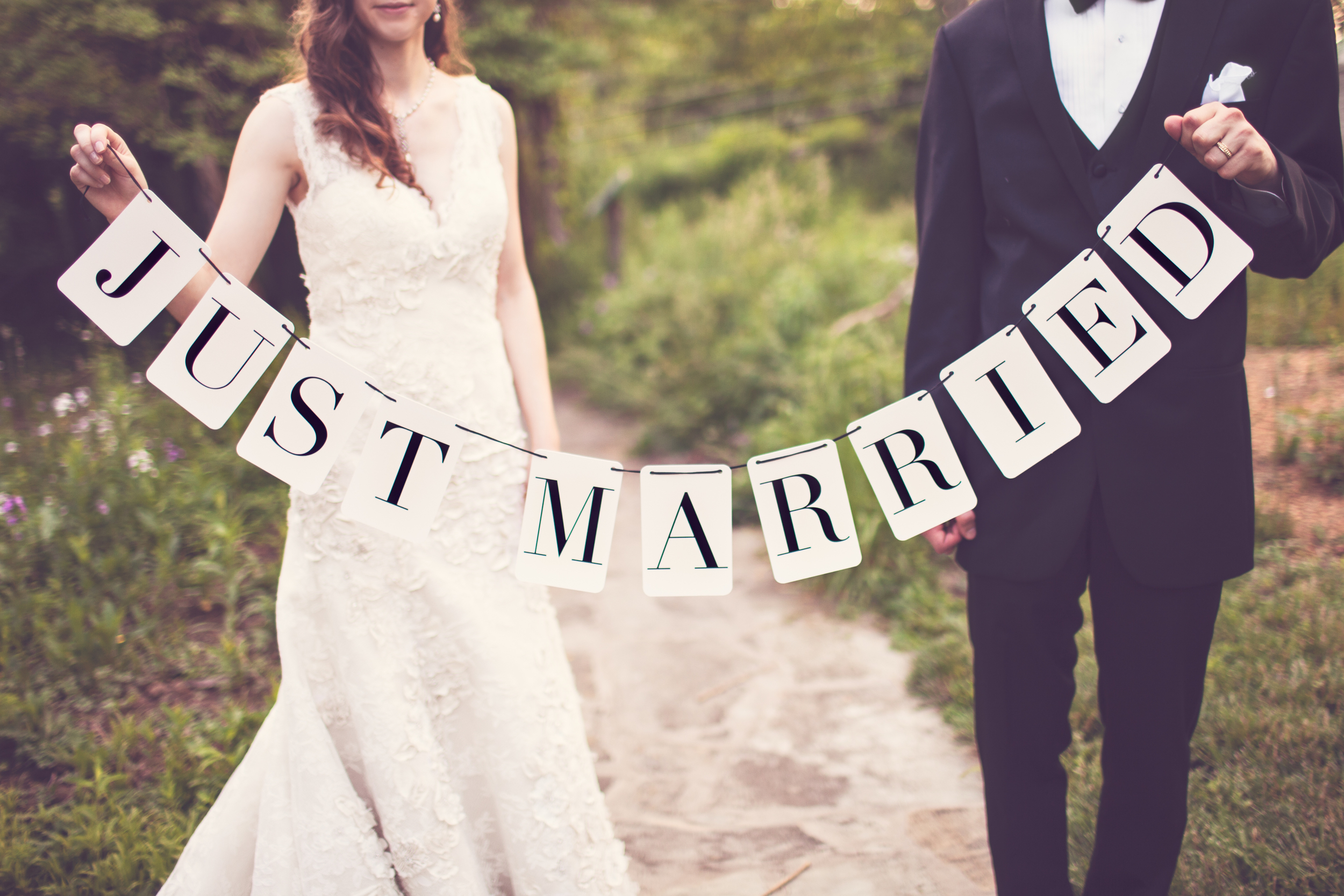 Just Married Banner by Tuck and Bonte Photos by Revival Photography