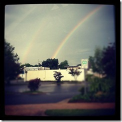 TWO rainbows!! Hickory, NC