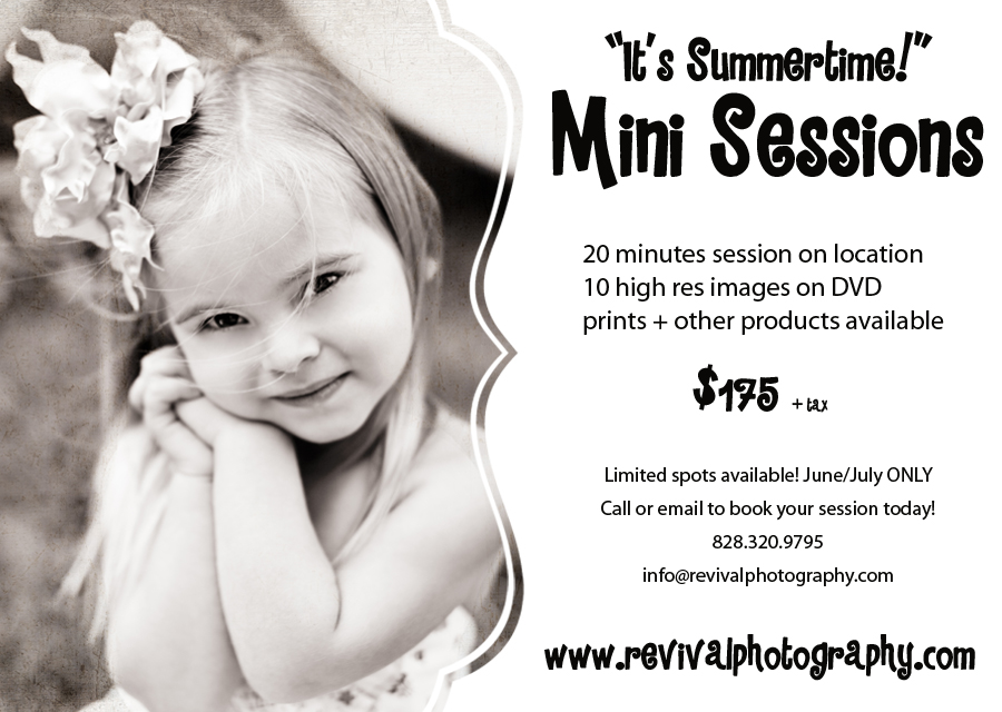 Mini Sessions by Revival Photography Summertime North Carolina Child Photographers