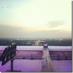On top of the Duke Energy Building in Charlotte, NC Revival Photography