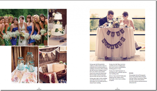 Rustic Wedding Chic Book Featuring Revival Photography Wedding Photographers