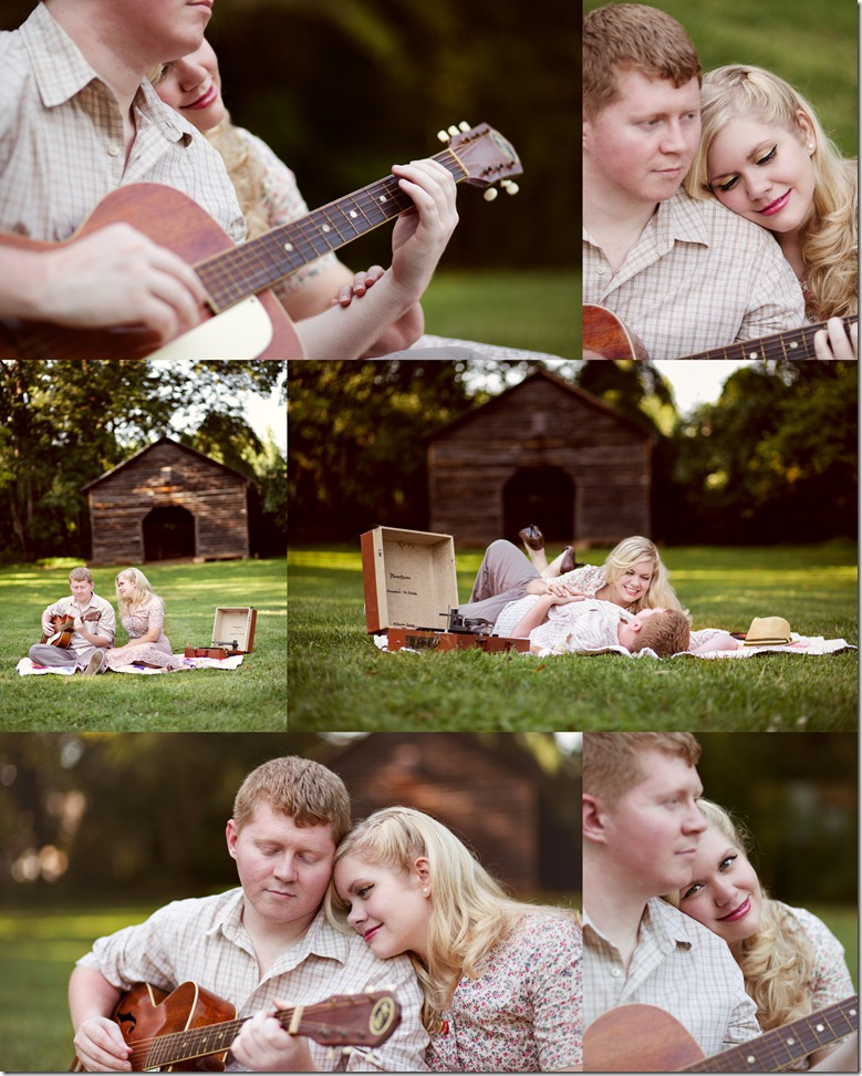 1950's style engagement session photos by Revival Photography Jason and Heather Barr Davidson North Carolina