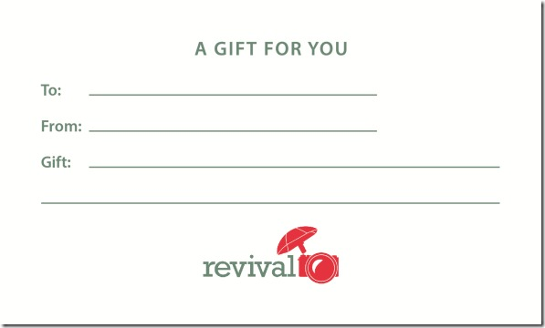 Revival Photography Gift Certificates