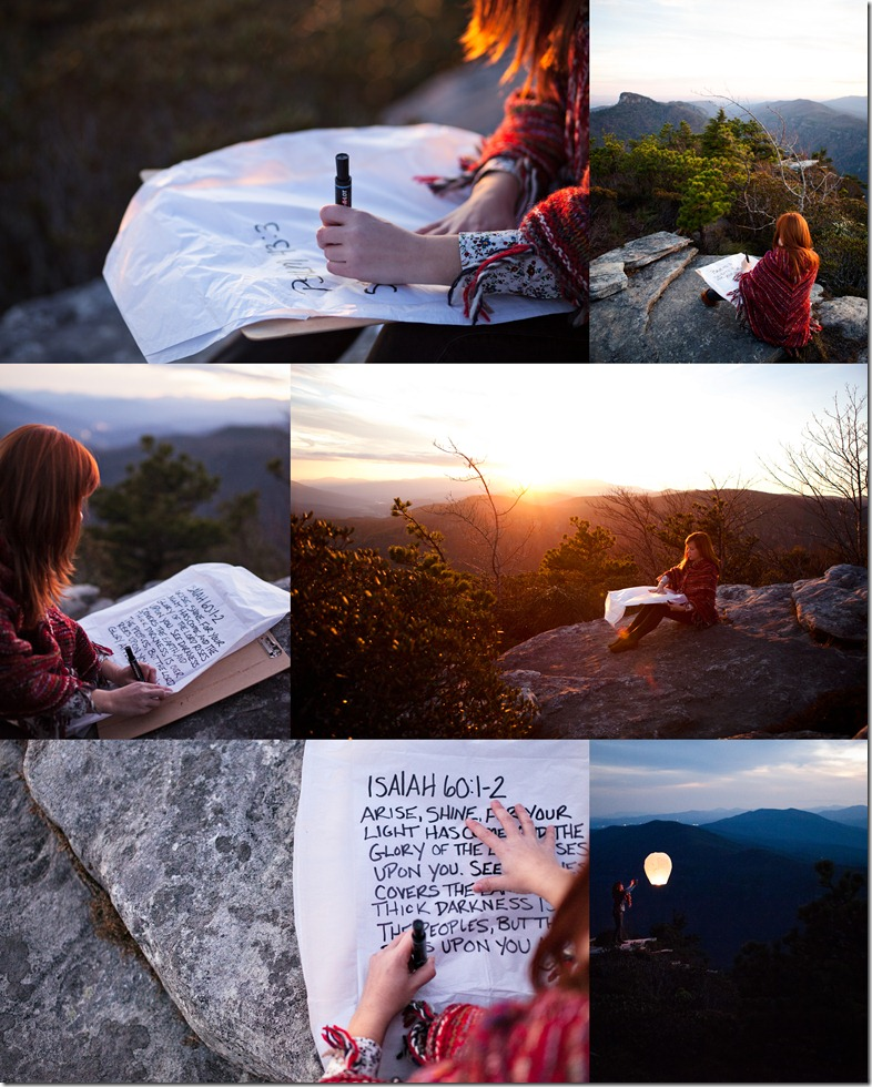 Isaiah 60:1-2 Concept Shoot by Revival Photography Heather Barr North Carolina Mountains