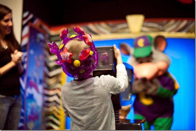 Birthday party at Chuck E Cheese Photography by Revival Photography Hickory NC