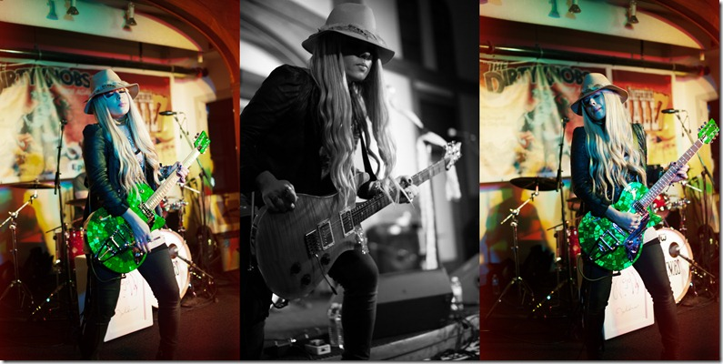 Photos by Revival Photography - Orianthi playing Duesenberg Guitars