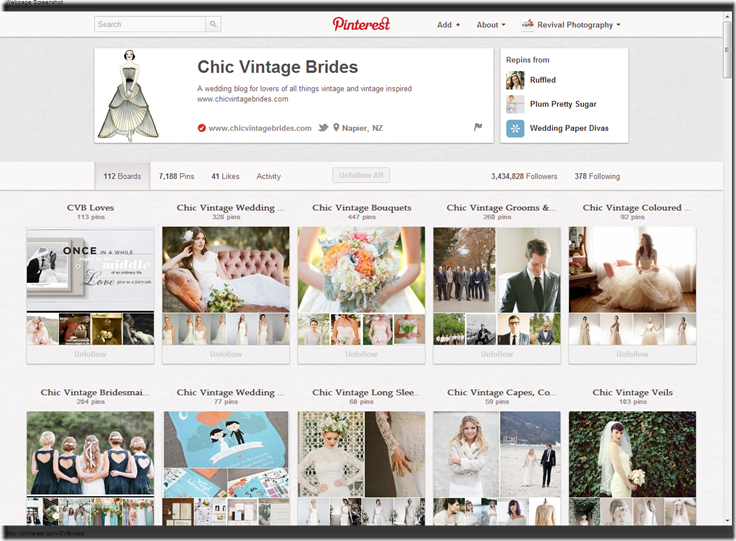 Chic Vintage Brides  CVBrides  on Pinterest
