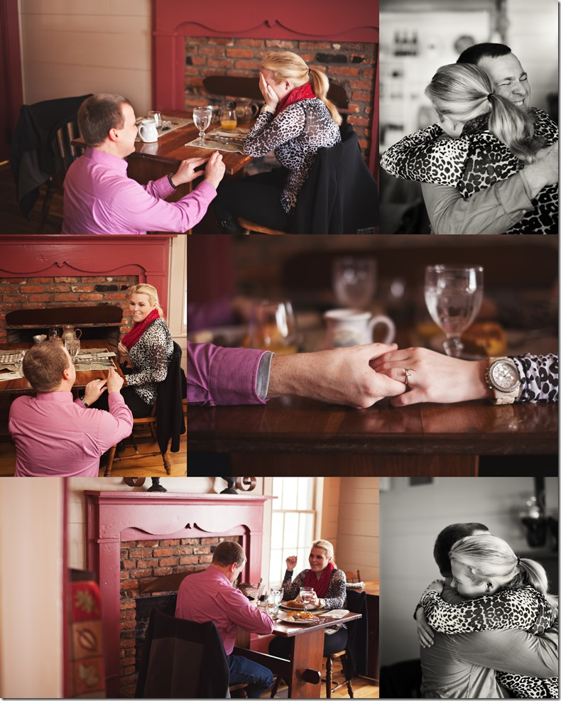 The Breakfast Proposal at The Mast Farm Inn a marriage proposal photos by Revival Photography