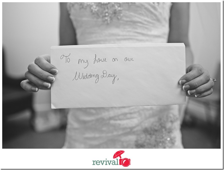 Wedding Day Love Note Pre Ceremony Photo by Revival Photography Photo