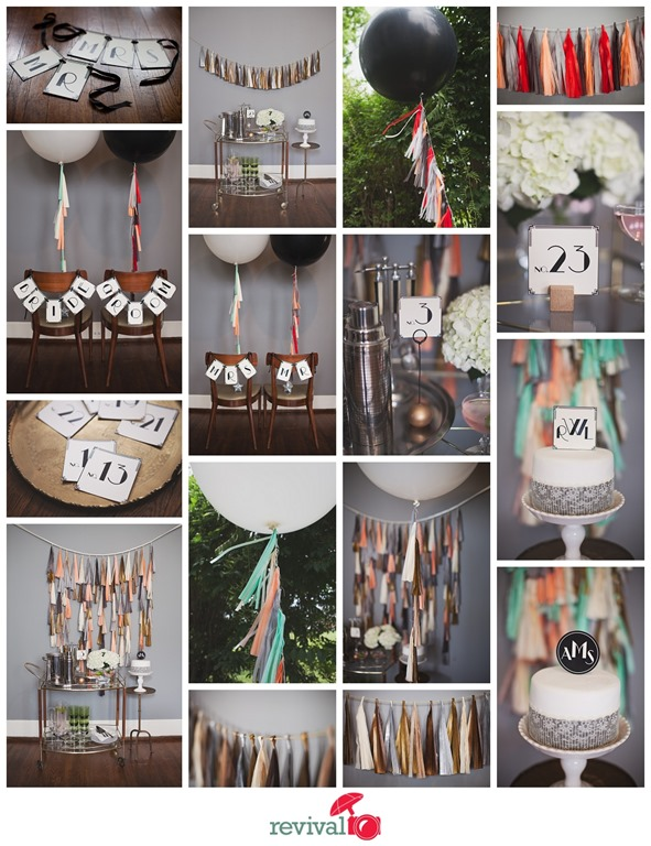 1920s Art Deco Inspired Wedding Decor by Tuck and Bonte Photos by Revival Photography Photo