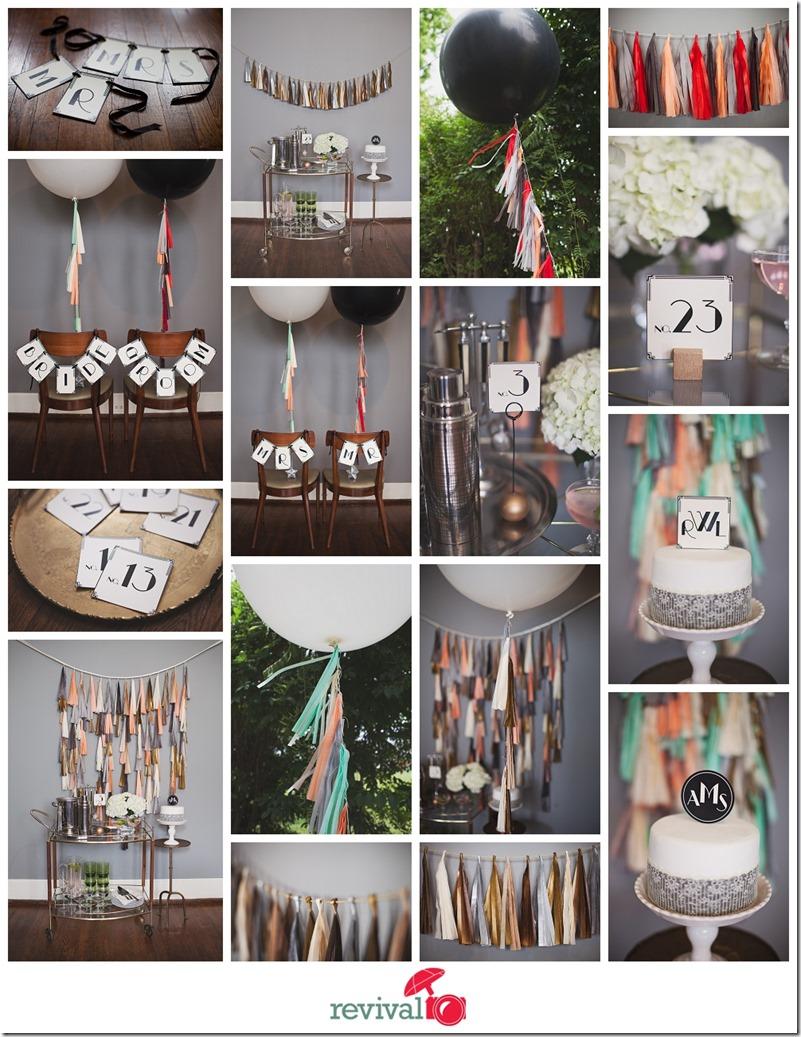Tuck bonte 1920 s art deco inspired wedding d cor for Art deco party decoration ideas