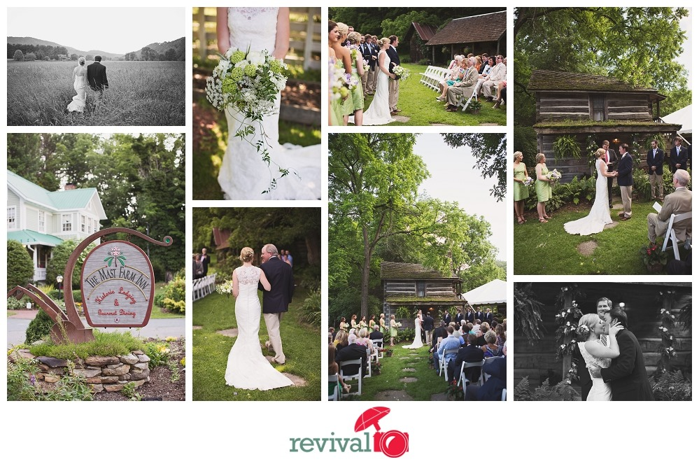 Rustic Mountain Farm Wedding at The Mast Farm Inn Photos by Revival Photography NC Wedding Photographers Vintage Style Photographers Photo