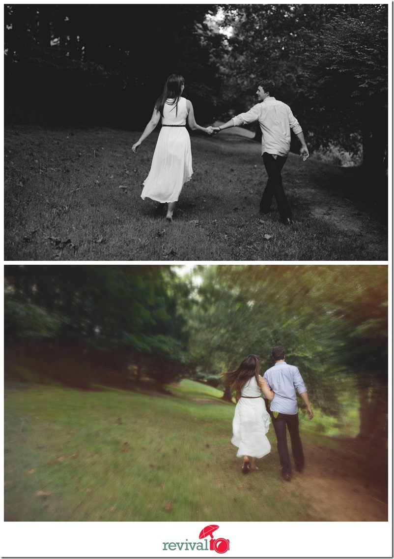 Lifestyle Engagement Session in Carrboro NC Photos by Revival Photography NC Wedding Photographers