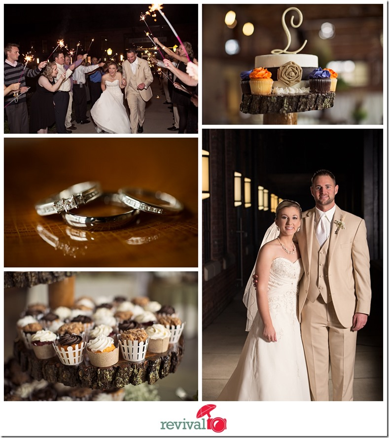 A beautiful rustic-chic evening wedding at The Grand Hall in Mount Holly NC Photography by Revival Photography Jason Barr and Heather Barr NC Husband and Wife Wedding Photographers Photo