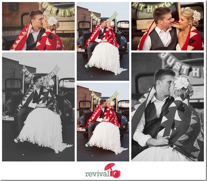 Ways to Stay Warm on your wedding day Weddings at The Crossing in Hickory NC Hickory Wedding Photographers Revival Photography Jason and Heather Barr Quilt to stay warm Photo