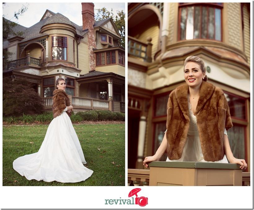 Vintage Wedding Winter Dress Vintage fur shaw fur wrap vintage bride inspiration Photos by Revival Photography Hickory Wedding Photographers Photo